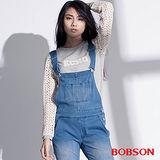 BOBSON 女款搭配立體蕾絲袖上衣  (35073-82)