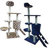 豪華五層貓跳台 藍色 米白色 2款