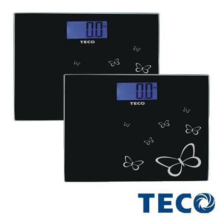團購2入-東元TECO-藍光時尚體重計