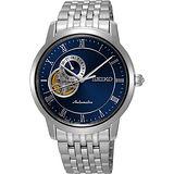 SEIKO Presage 24小時顯示開芯機械錶-藍/39mm 4R39-00M0B(SSA269J1)