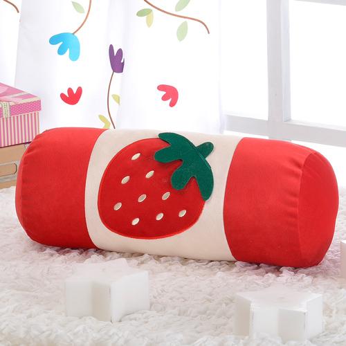 思美爾 台灣製可愛草莓圓棍靠/抱枕