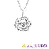 【光彩珠寶】日本舞動鑽石項鍊 花戀