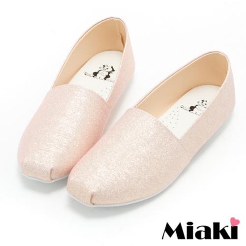 【Miaki】MIT 懶人鞋時尚韓版休閒圓頭包鞋 (金色)