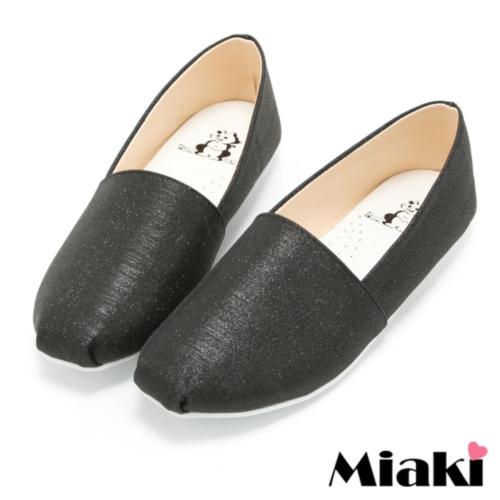 【Miaki】MIT 懶人鞋時尚韓版休閒圓頭包鞋 (黑色)