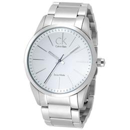 cK 洗練潮流風格腕錶(白面/不鏽鋼)