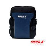 美國品牌【SUPER-K】休閒側背斜背包-藍