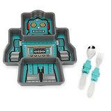 【KIDSFUNWARES】造型兒童餐盤組-機器人
