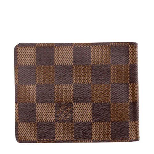 Louis Vuitton LV N61208 Slender 棋盤格紋雙折短夾_預購