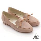 【A.S.O】減壓美型 絨面真皮尖楦窩心樂福鞋(卡其)