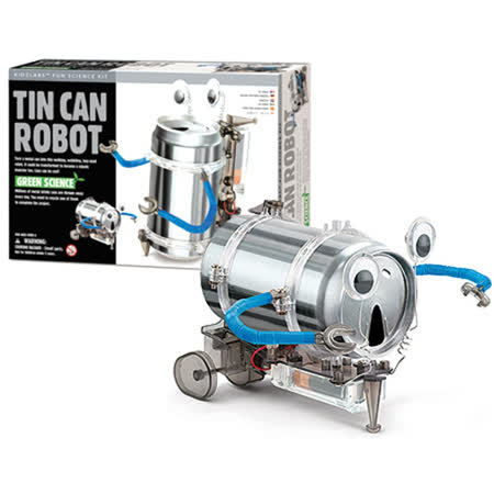 《4M科學探索》Tin Can Robot 創意環保機器人