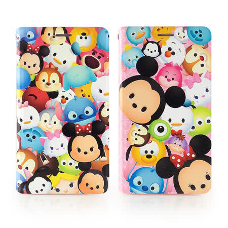 Disney Samsung Galaxy Note 4 TSUM TSUM 時尚彩繪可立式筆記本皮套