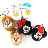 Disney 可愛絨毛拖鞋造型耳機防塵塞擦拭布-米奇/米妮/唐老鴨/黛西/奇奇/蒂蒂