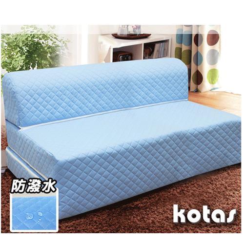 KOTAS 高週波+防潑水彈簧沙發床/椅 5尺 雙人
