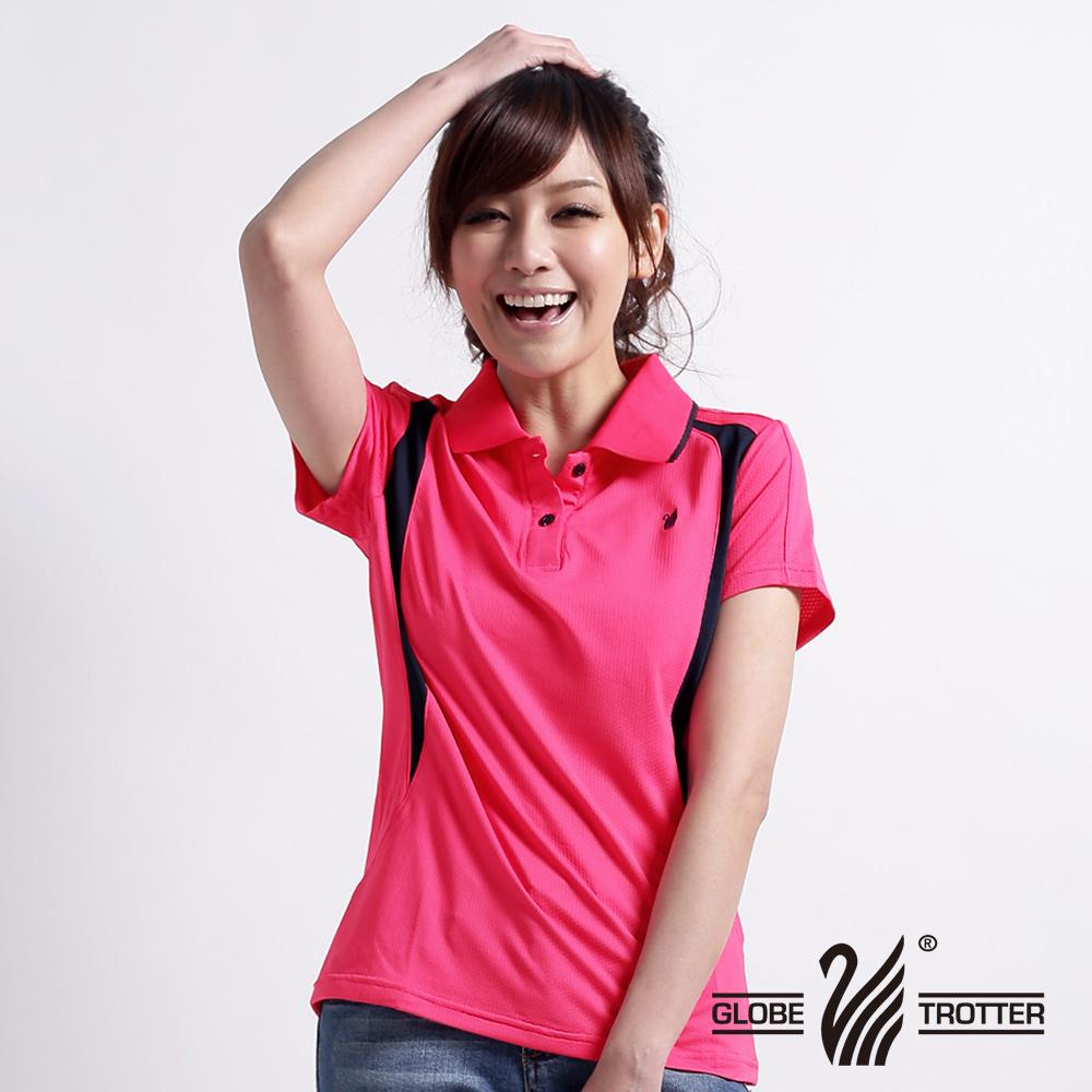 【遊遍天下】 腰瘦女款台灣製吸排POLO衫(玫紅M-3L)(品特)