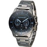INDEPENDENT 潮流玩酷炫彩計時腕錶 KF5-144-55