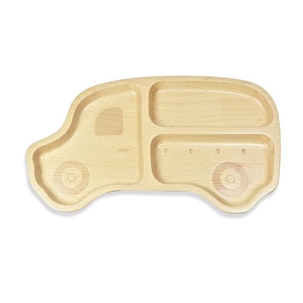 SADOMAIN仙德曼 山毛櫸兒童餐盤-叭叭車