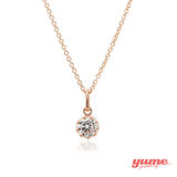 【YUME】K金5mm皇冠單鑽項鍊