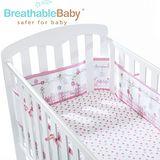 英國 BreathableBaby 透氣嬰兒床圍 全包型 (18430森林花園款)