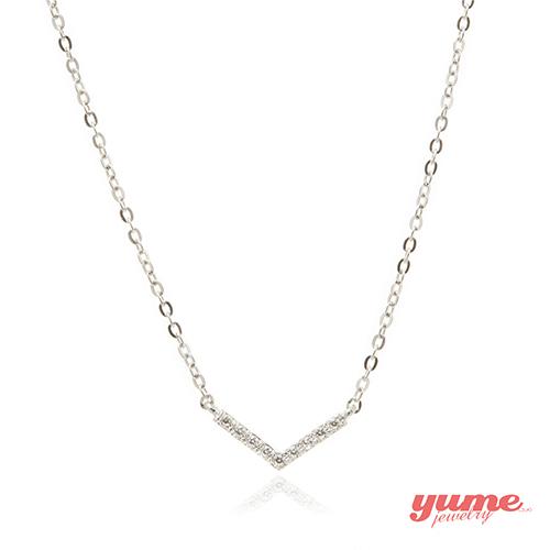 【YUME】K金愛的微笑項鍊