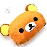 San-X【可愛拉拉熊】暖手頭型抱枕-M號