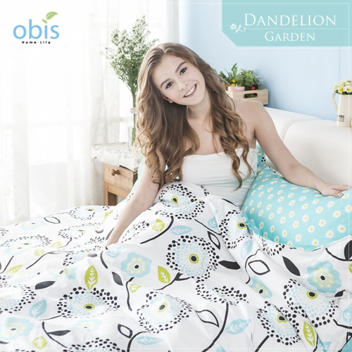 【obis】100%純棉雙人5X6.2尺床包兩用被組-蒲公英花園