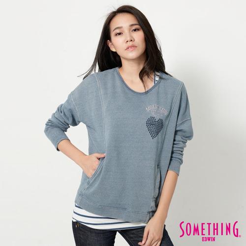 SOMETHING INDIGO兩件式T恤-女-漂淺藍