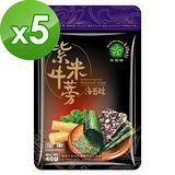 【笑蒡隊】紫米牛蒡海苔酥唰嘴5包組(40g/包)
