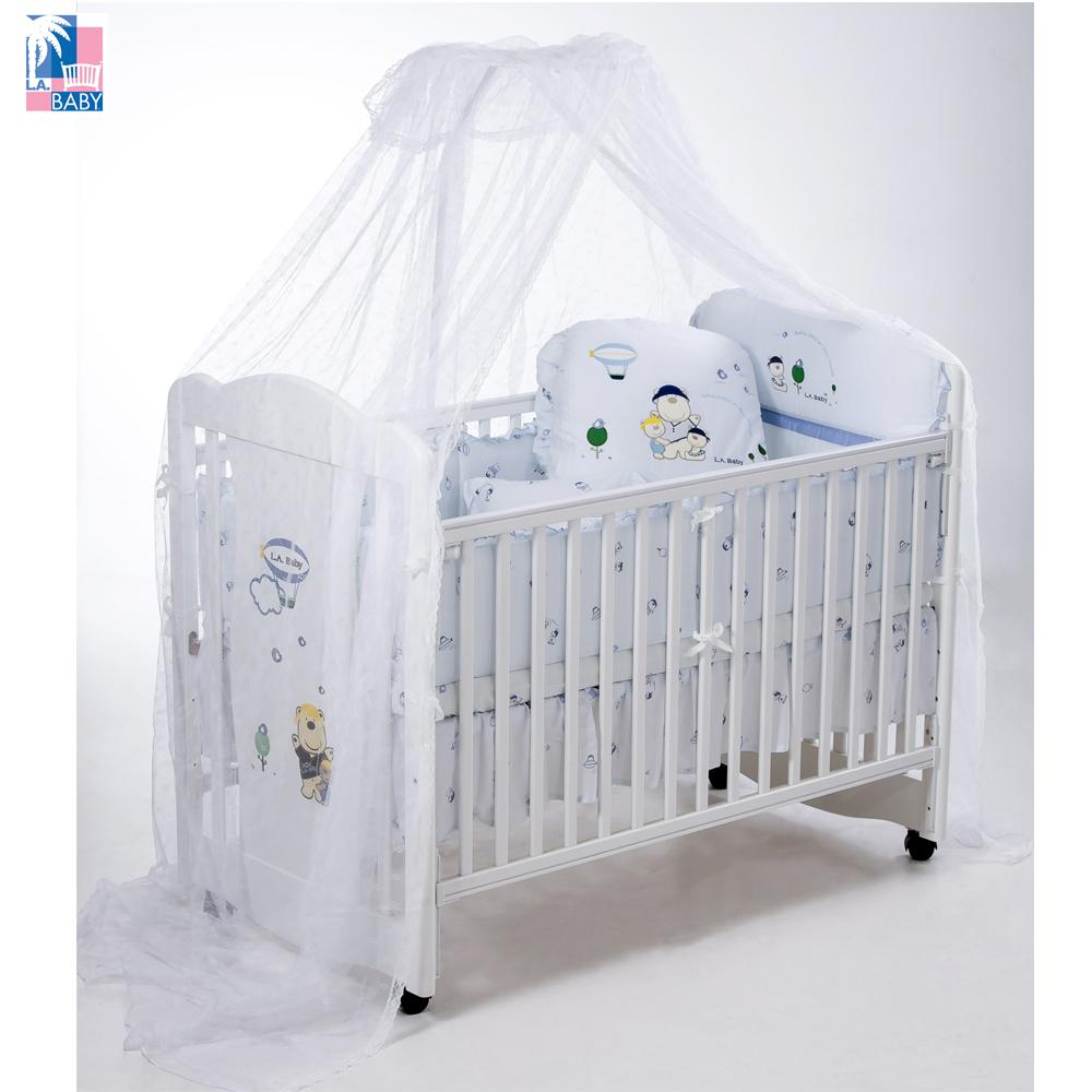 L.A. Baby 美國加州貝比 奧蘭多嬰兒大床-超值10件組(兩款大床/兩款寢具任選)