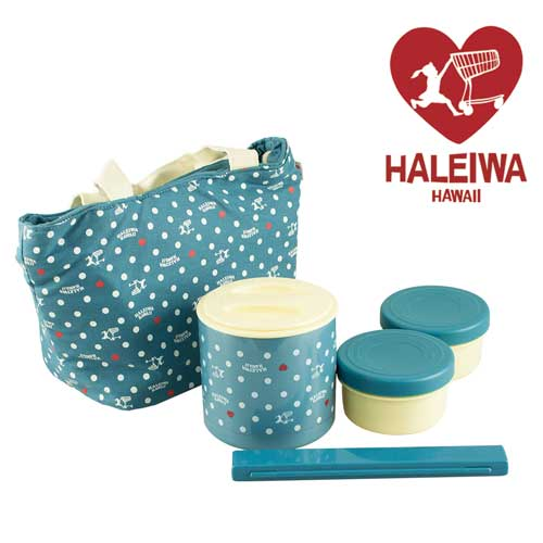 ~HALEIWA~點點不銹鋼戶外野餐保溫罐~ 淡藍色