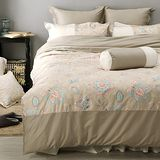 LITA麗塔 波隆那-米花303織精梳棉床包薄被套枕套四件式-雙人特大