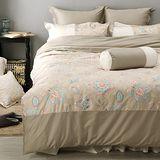 LITA麗塔 波隆那-米花303織精梳棉床包兩用被套枕套四件式-雙人特大