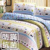 【鴻宇‧防蟎抗菌】美國棉 祕密花園-雙人四件式兩用被床包組