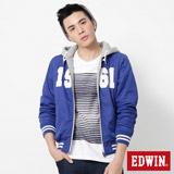 EDWIN 雙面穿連帽外套-男-藍色