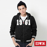 EDWIN 雙面穿連帽外套-男-黑色