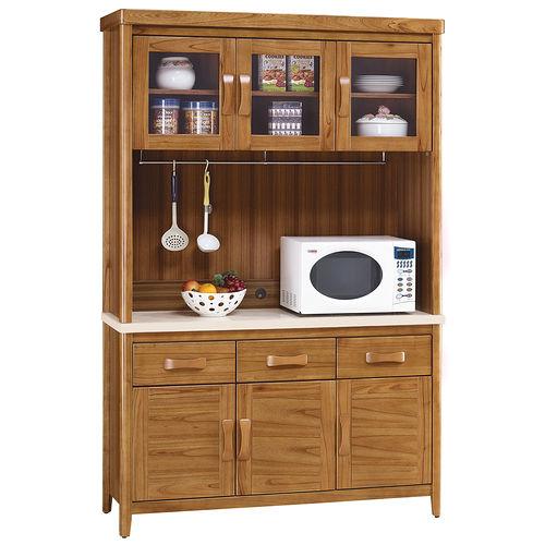 ~顛覆 ~絲莉愛4.2尺柚木實木石面餐櫃組 上 下座