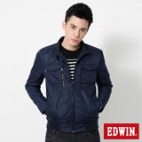 EDWIN 網路限定 雙口袋立領外套-男-丈青色