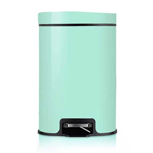 PUSH! 居家生活用品 colourful液壓緩降可固定垃圾袋垃圾桶 置物桶 8升(L)I16-1綠色