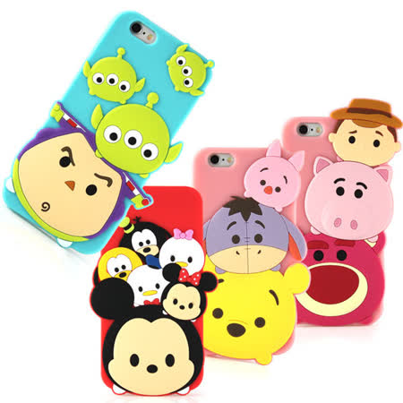 Disney iPhone 6 Plus/6s Plus TSUM TSUM 可愛2D立體保護套-主題