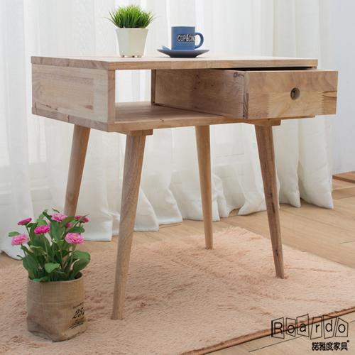 【諾雅度】原生實木2尺含抽置物櫃(中腳/附一抽屜)