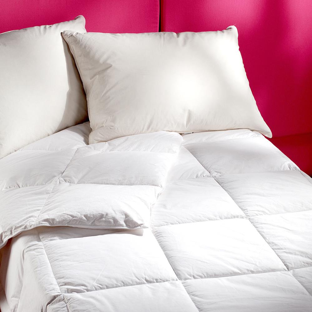 【法式寢飾花季】純品良織-保暖首選-輕暖羽絨系列(10%羽絨枕+50%羽絨被)