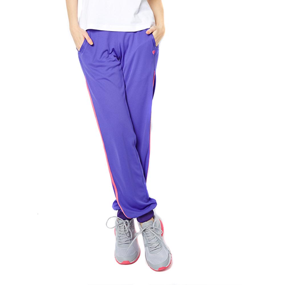 FIVE UP(女)-極顯瘦舒適吸排針織長褲-紫