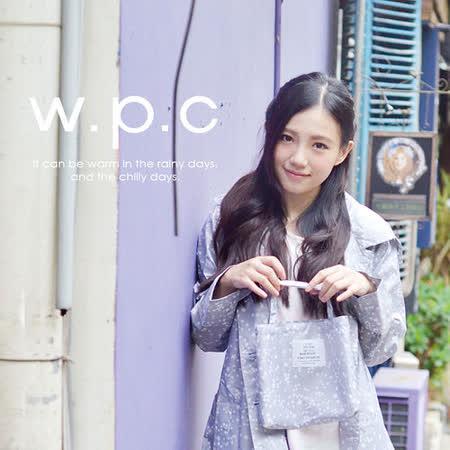 【w.p.c.】時尚風雨衣 星星釦子款。