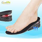 [Conalife]防滑透氣耐磨二層隱形增高鞋墊(2入)