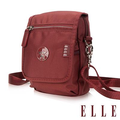 ELLE 法式優雅時尚 收納包/側背包/手機包-酒紅色EL83473-80