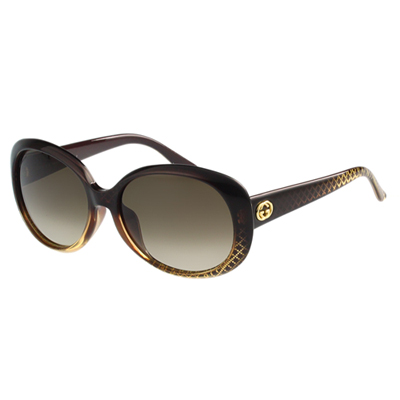 GUCCI-時尚太陽眼鏡(咖啡紅)