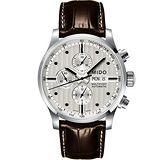 MIDO Multifort Chrono Valijoux計時碼錶-銀白/44mm M0056141603100