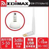 EDIMAX 訊舟 EW-7711UAn V2 Wireless 802.11n USB無線網路卡 ..