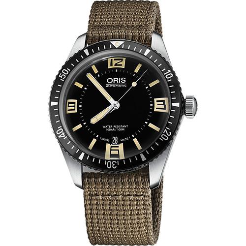 Oris Divers Sixty~Five 1965復刻潛水機械錶~黑x卡其 40mm 0173377074064~0752022