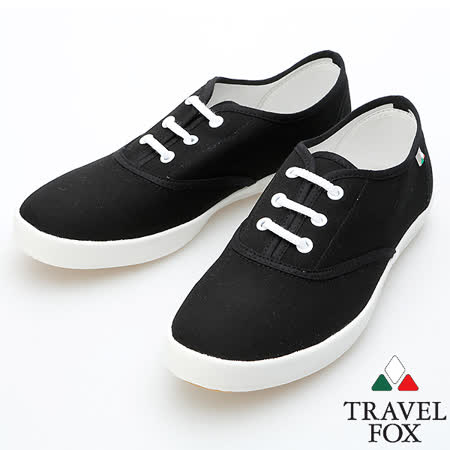 Travel Fox 經典帆布鞋914322(黑-01) -friDay購物