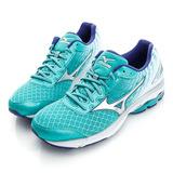 MIZUNO 美津濃 女鞋 慢跑鞋-藍綠-J1GD160304